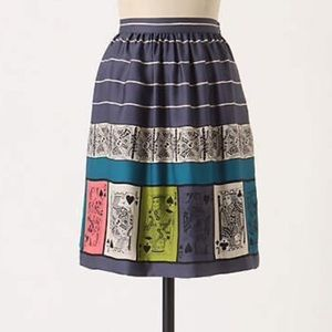 ANTHROPOLOGIE playing cards skirt size 4